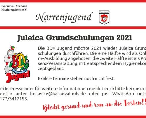 Narrenjugend Aufruf Juleica Grundschulungen 2021